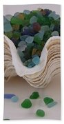 Sea Glass In Clam Shell - No 1 Bath Towel