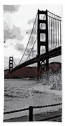 Sea Spray Under The Golden Gate Bridge Bath Towel