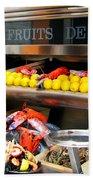 Seafood Market In Nice Bath Towel