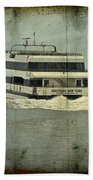 Seastreak Catamaran - Ferry From Atlantic Highlands To Nyc Bath Towel