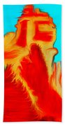 Sedona Hills - Fire At Sunset - Arizona Bath Towel
