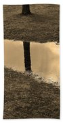 Sepia Silhouetted Reflections  Bath Towel
