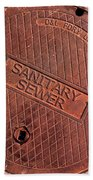 Sewer Cover Bath Towel