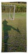 Shadow From A Football Player Bath Towel
