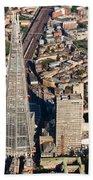 Shard London Aerial View Bath Towel