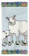Sheep Artist Sheep Art Bath Towel