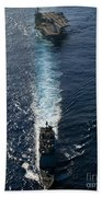 Ships From The John C. Stennis Carrier Bath Towel