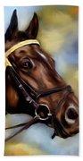 Show Horse Painting Bath Towel