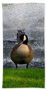 Showering Canadian Goose Bath Towel
