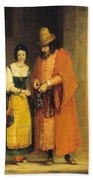 Shylock And Jessica From 'the Merchant Of Venice' Bath Towel