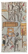 Siege Of Tenochtitlan, 1521 Bath Towel