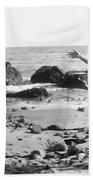 Silent Film Still: Beach Bath Towel