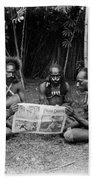 Silent Film Still: Natives Bath Towel