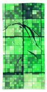 Sinful Geometric Green Bath Towel