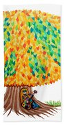 Singing Under The Peace Tree Bath Towel