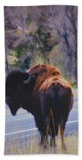 Single Buffalo In Yellowstone Np Bath Towel