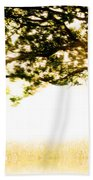 Single Tree In Motion Bath Towel