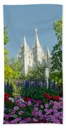 Slc Temple Flowers Hand Towel