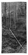 Slovenian Forest In Black And White Bath Towel