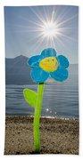 Smile Flower On The Beach Bath Towel