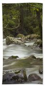 Smokey Mountain Stream No.326 Bath Towel