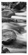 Smokey Mountain Stream Of Flowing Water Over Rocks Bath Towel