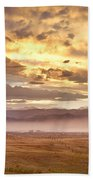 Smoky Sunset Over Boulder Colorado  Bath Towel
