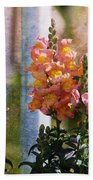 Snapdragons Bath Towel