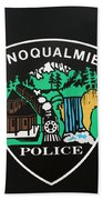 Snoqualmie Police Bath Towel