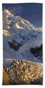 Snow Blowing From Summit Ridge Of Mount Bath Towel