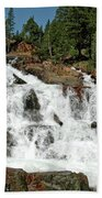 Snow Melt Glen Alpine Falls Bath Towel