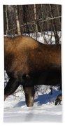 Snow Moose Bath Towel