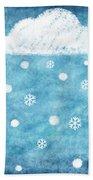 Snow Winter Bath Towel