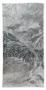 Snowy And Hazy Central Russia Showing Hand Towel