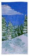Snowy Pines Bath Towel