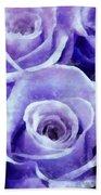 Soft Lavender Roses Bath Towel