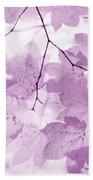 Softness Of Violet Maple Leaves Bath Towel