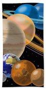 Solar System Bath Towel