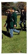 Soldiers March Two By Two Hand Towel