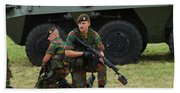 Soldiers Of An Infantry Unit Bath Towel