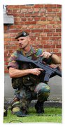 Soldiers Of The Belgian Army Helping Hand Towel