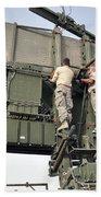 Soldiers Set Up A Tps-75 Radar Bath Towel