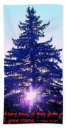 Solitary Trees Poster Bath Towel