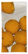 Some Indian Sweets Called A Ladoo In The Shape Of A Sphere Bath Towel