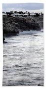 Menorca South Coast In A Stormy Mediterranean Day Bath Towel