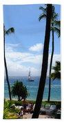 Sparkling Sea At Kaanapali Maui Bath Towel