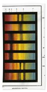 Spectra Chart, Blood Samples, 1894 Bath Towel