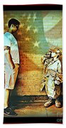 Spirit Of Freedom - Soldier And Son Bath Towel