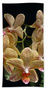 Spotted Orchids Bath Towel