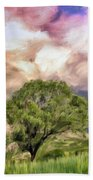 Spring Storm In Tuscany Bath Towel
